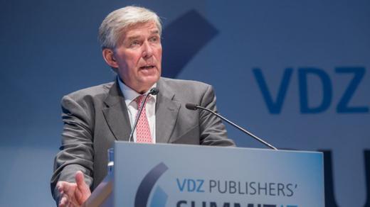 Rudolf Thiemann beim Publisher's Summit des VDZ