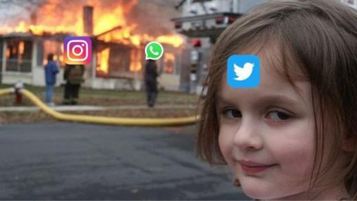Wenn Drei down sind, freut sich der Vierte - im konkreten Fall Twitter