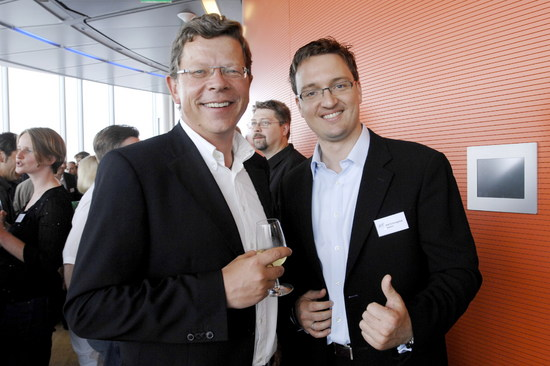 Michael Wöhler, Leiter Business Operations E-Commerce Thomas Cook und Axel Schmiegelow, Geschäftsführer Denkwerk (von links nach rechts)