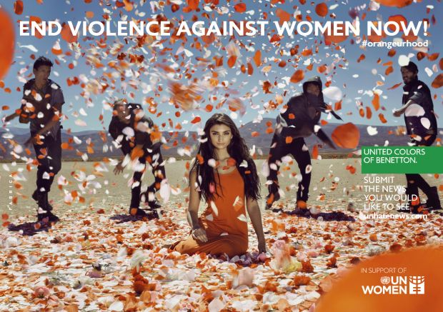 "Kampagne ""End Violence Against Women Now!"" (2014) von Fabrica"