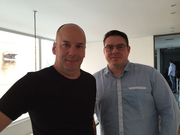 Stephan Moritz mit Sergio Tikhomiroff, Executive Producer bei Mixer
