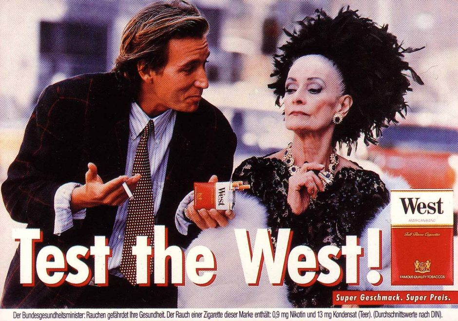 "1987: Zigaretten-Kampagne ""Test the West!"""