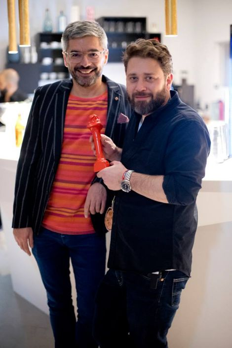 RMS-Chef Alexander Sempf (links) und Studioleiter in Berlin, Nima Gholiagha