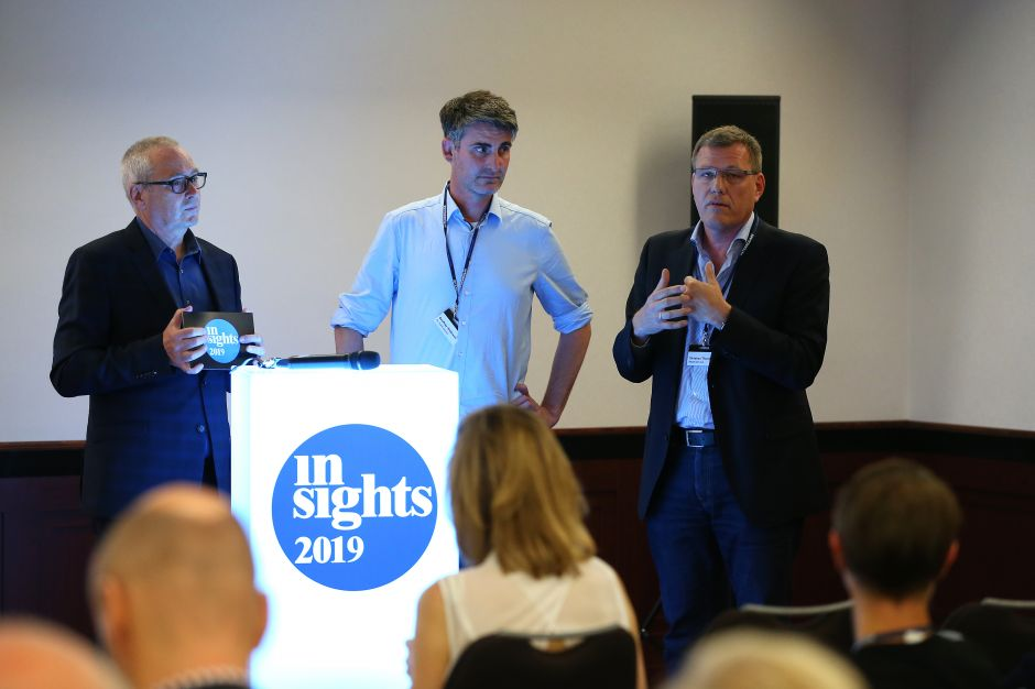 von links: Dr. Uwe Vorkötter (HORIZONT), Geoffrey Hildbrand (Strategic Planning, Marketing & Design Research, Innovation & Client Development, mc markt-consult) und Christian Thunig (Managing Partner, Innofact)