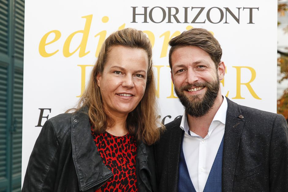 Die beiden Dinner-Speaker: Alexandra Barth, HRS Group und Christoph Hosseus, Alnatura