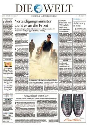 """Die Welt"": Relaunch am 22. November"