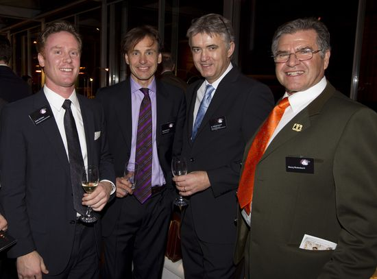 Jason Schiess (LG), Ronald Focken (Serviceplan), Dr. Wilfried Vyslozil, Georg Rodenbach (beide SOS Kinderdörfer, von links)