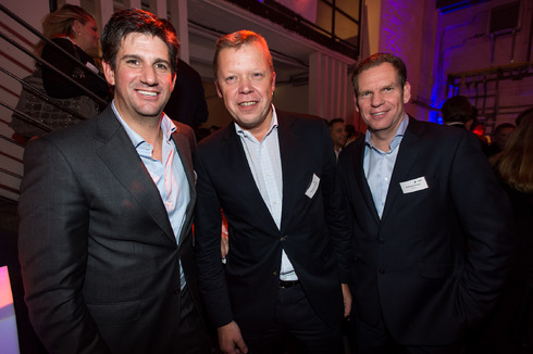 Stan Sugarman, G&J, Thomas Wagner, SevenOne Media, Andreas Prasse, WallDecaux