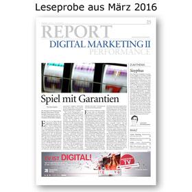 HORIZONT REPORT Digital-Marketing III: Performance