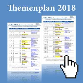 HORIZONT Themenplan 2018