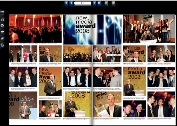 Der Media Guide zum New Media Award als E-Paper