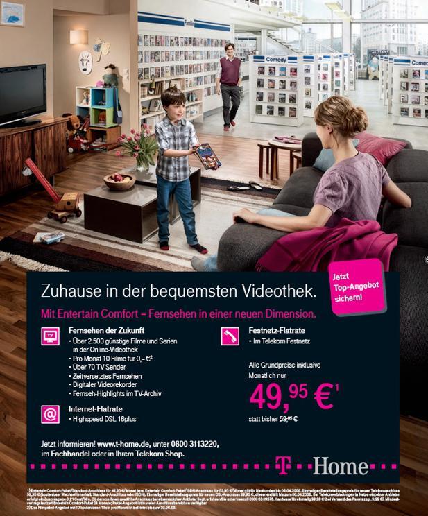 Telekom Startet Werbeoffensive Für Entertain Pakete