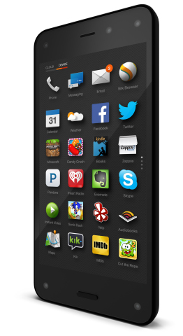 Amazon hat nun auch ein Smartphone: das Fire Phone (Bild: Amazon)