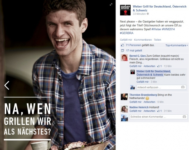 (Bild: Screenshot facebook.com/WeberGrills.DE.AT.CH)