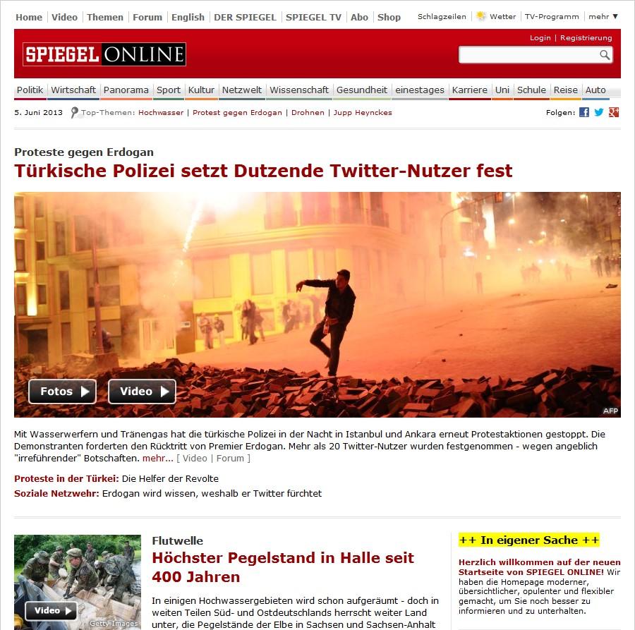 spiegel online relauncht homepage und r umt print mehr