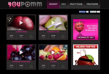 "Screenshot der ""YouPomm""-Website von Oasis"