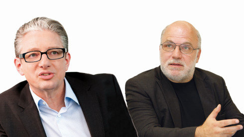 Seven-One-Manager Guido Modenbach (l.) und ZDF-Medienforscher Bernhard Engel