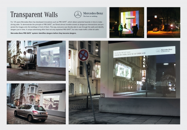 Silber: Jung von Matt, Hamburg / Mercedes-Benz: Transparent Walls