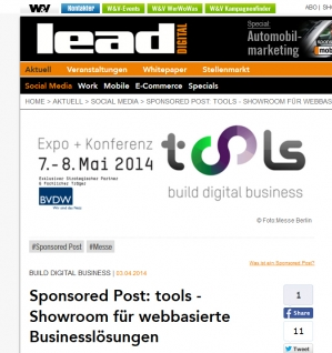 """Sponsored Post"" bei Lead Digital"