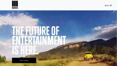 """The Future of Entertainment"": Die Website von Maker Studios"