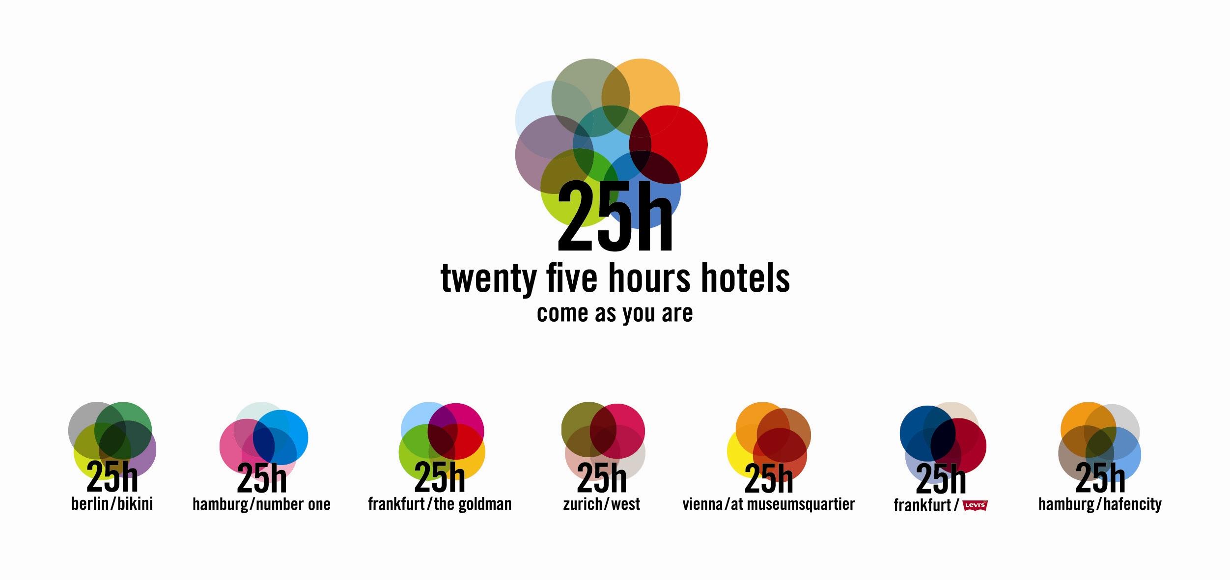 aufgefrischtes logo f252r 25 hours hotels zum firmenjubil228um