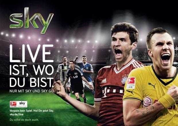 Zum Bundesligastart Sky Setzt Sky Go Kampagne Fort