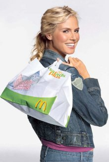 "Pusht ""Salads Plus"" für McDonald's: Heidi Klum"