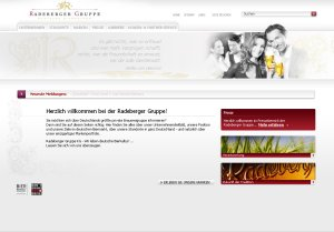 Screenshot der Radeberger Website