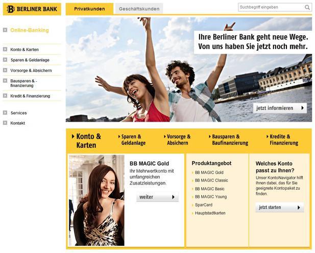 Sinnerschrader Hübscht Website Der Berliner Bank Auf