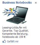 Facebook-Ad für Notebooks