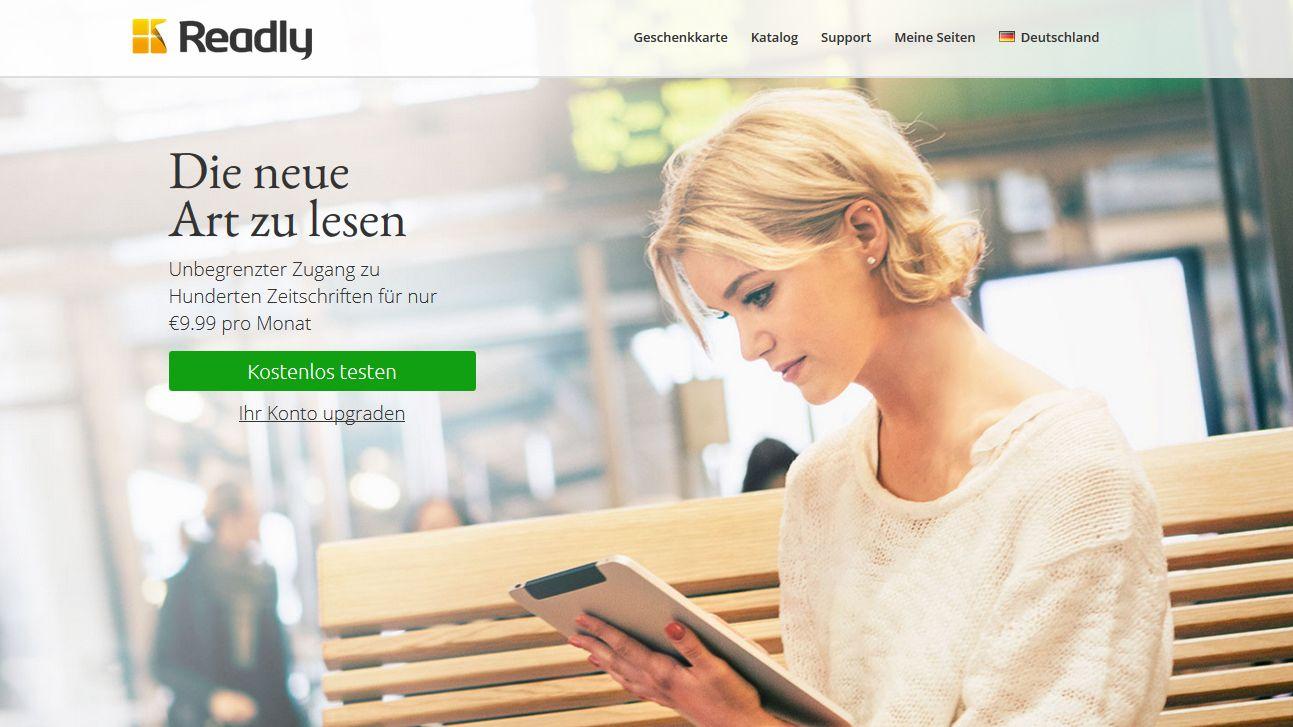 digitale flatrate zeitschriften app readly in deutschland gestartet. Black Bedroom Furniture Sets. Home Design Ideas