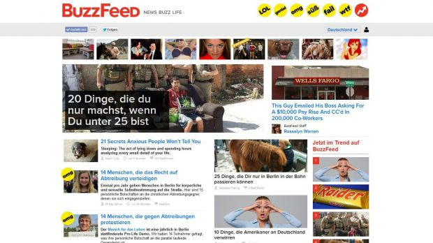 Screenshot der deutschen Buzzfeed-Website