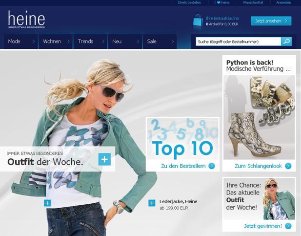 Heine Mit Neuem Online Shop