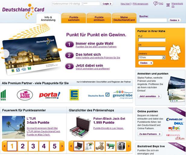 Deutschlandcard 2 Karte Anmelden.Deutschlandcard Surft Mit Denkwerk