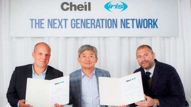Iris co-CEO Stewart Shanley, Cheil Worldwide CEO, Daiki Lim, Iris co-CEO Ian Millner (v.l.n.r.)