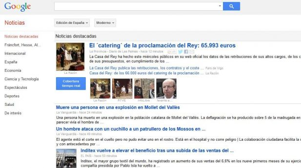 Google News macht in Spanien dicht