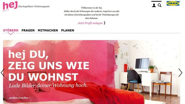 Ikea Razorfish Relauncht Einrichtungsplattform Hej