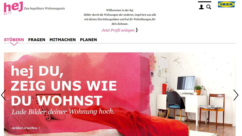 ikea razorfish relauncht einrichtungsplattform hej. Black Bedroom Furniture Sets. Home Design Ideas