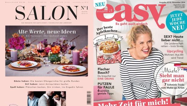 Gruner Und Jahr Zeitschriften horizont check was die neuen magazine salon und easy über g j