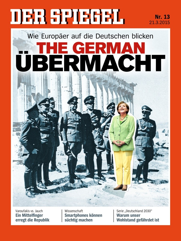 hellas aufregung spiegel f r nazi titel in der kritik