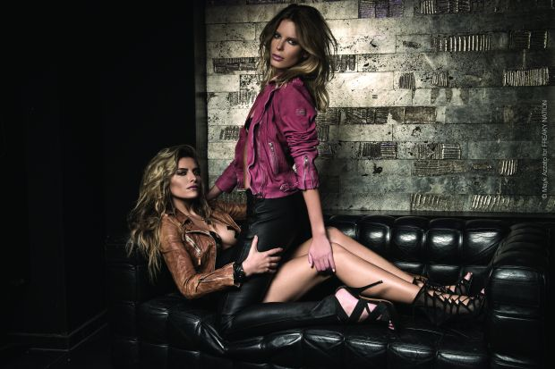 Sophia Thomalla mit Model Julia Trainer