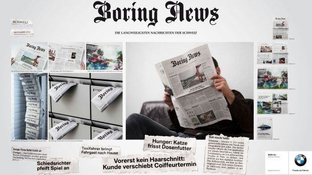 "In der internationalen D/A/CH-Kategorie gewinnt Serviceplan Gold mit ""BMW Boring News"""