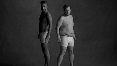 Knackiges Duo: David Beckham und James Corden