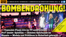 GNTM Bombendrohung
