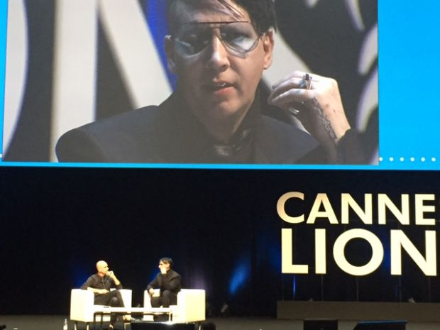Marilyn Manson bei den Cannes Lions