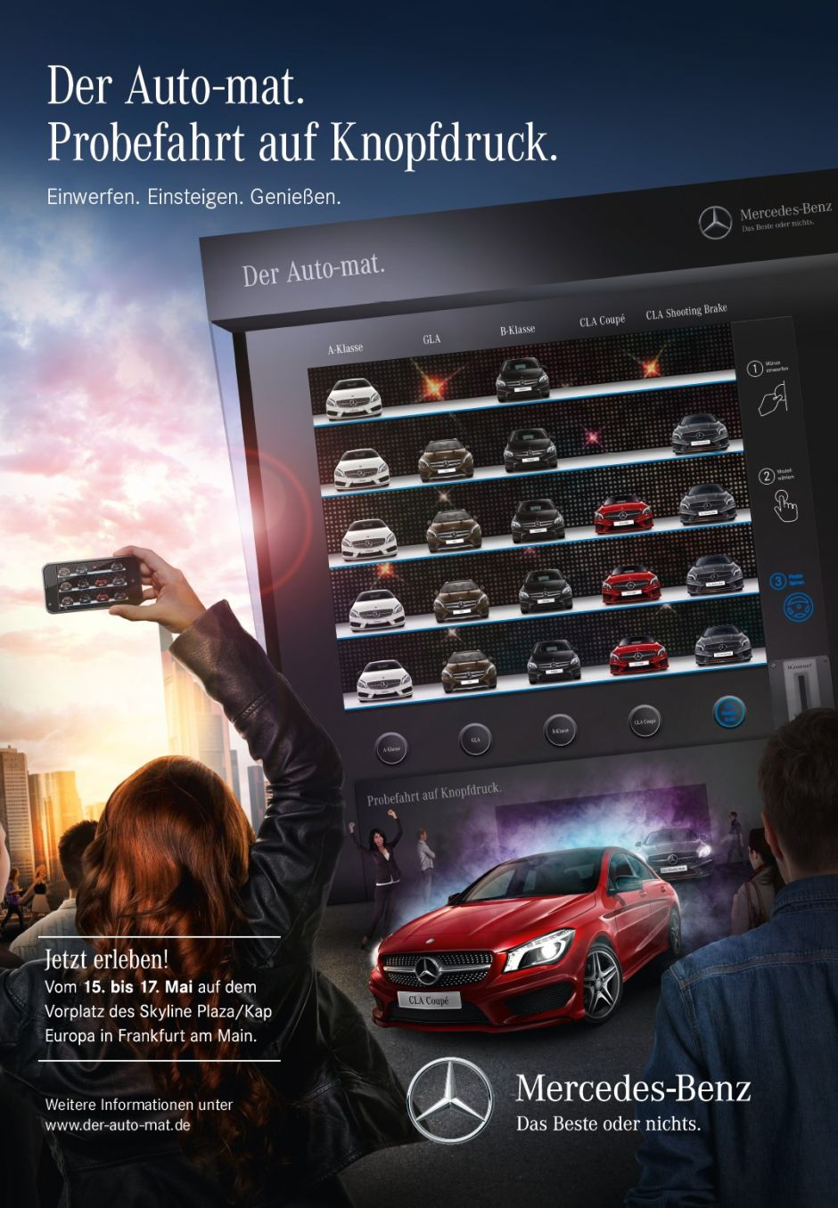 Das Key Visual zur Mercedes-Roadshow
