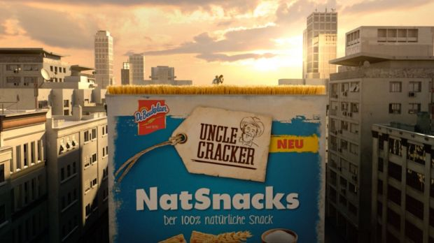 Der Spot für Uncle Cracker Netsnacks läuft Mitte April an