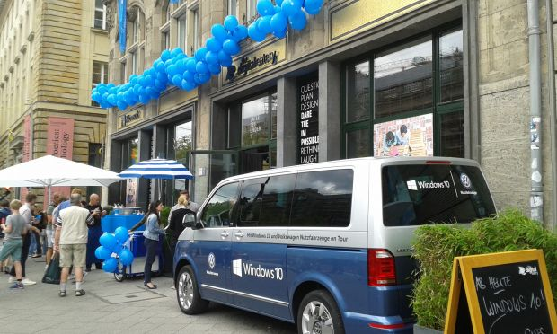 Die Digital Eatery in Berlin während des Windows-10-Launch