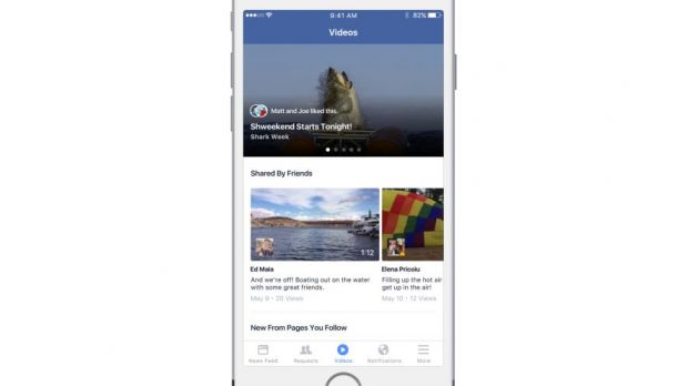 Die neue Video-Rubrik in der iPhone-App von Facebook