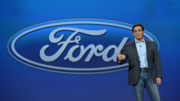 Ford-Boss Mark Fields auf der CES